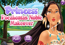 Vestir y maquillar a Pocahontas