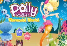 Vestir a Polly Pocket sirena bajo el mar