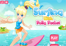 Vestir a Polly Pocket surfista