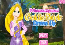 Vestir a Rapunzel estilo de oro