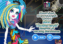 Juego de Monster High Silvi Timberwolf