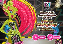 Juego de Monster High Venus Mcflytrap